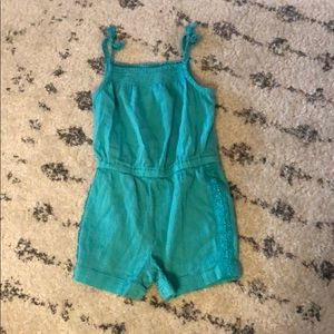 Carter's One Pieces - Teal romper size 9 months